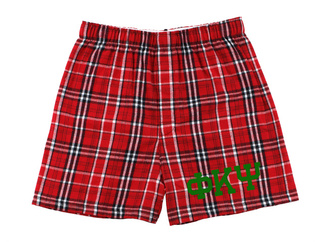 Phi Kappa Psi Flannel Boxer Shorts