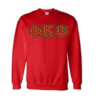 Phi Kappa Psi Fraternity Crest - Shield Twill Letter Crewneck Sweatshirt