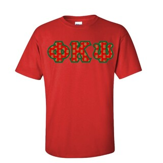 Phi Kappa Psi Fraternity Crest - Shield Twill Letter Tee