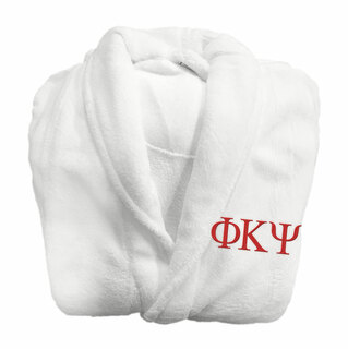 Phi Kappa Psi Fraternity Lettered Bathrobe