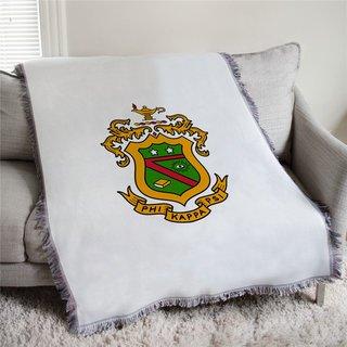 Phi Kappa Psi Full Color Crest Afghan Blanket Throw