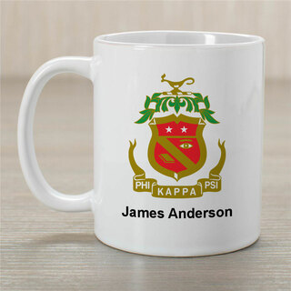 Phi Kappa Psi Greek Crest Coffee Mug - Personalized!