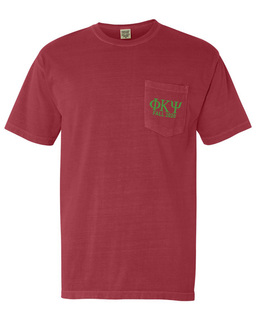 Phi Kappa Psi Greek Letter Comfort Colors Pocket Tee