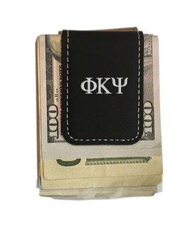 Phi Kappa Psi Greek Letter Leatherette Money Clip