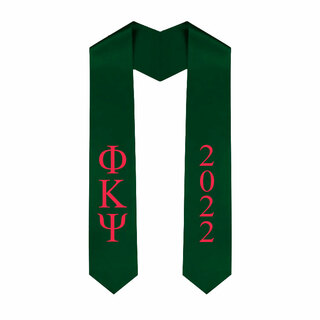 Phi Kappa Psi Greek Lettered Graduation Sash Stole With Year - Best Value