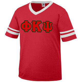 DISCOUNT-Phi Kappa Psi Jersey With Greek Applique Letters