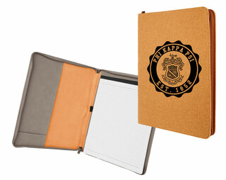 Phi Kappa Psi Leatherette Zipper Portfolio with Notepad