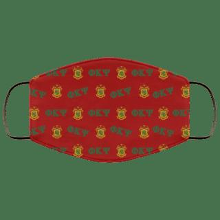 Phi Kappa Psi Letter Crest Face Masks