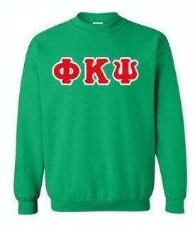 Phi Kappa Psi Sewn Lettered Crewneck Sweatshirt