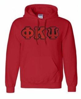 Phi Kappa Psi Lettered Greek Hoodie- MADE FAST!