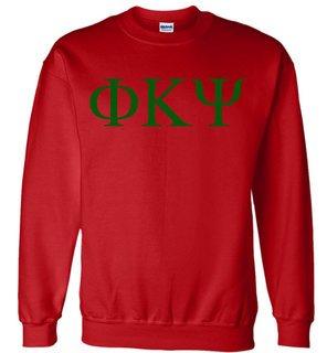Phi Kappa Psi Lettered World Famous $19.95 Greek Crewneck