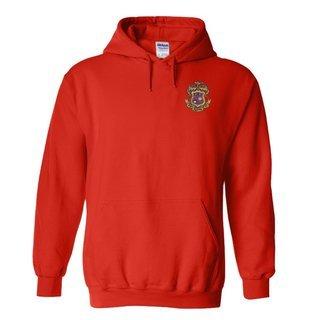 DISCOUNT-Phi Kappa Psi Crest - Shield Emblem Hooded Sweatshirt
