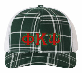 Phi Kappa Psi Plaid Snapback Trucker Hat - CLOSEOUT