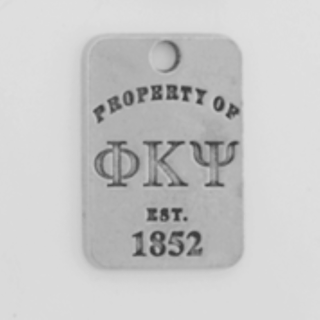 Phi Kappa Psi Property of Tag Keychain - CLOSEOUT