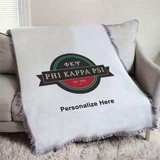 Phi Kappa Psi Seal Afghan Blanket Throw