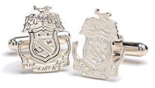 Phi Kappa Psi Sterling Silver Crest - Shield Cufflinks