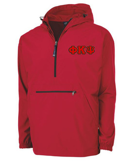 Phi Kappa Psi Tackle Twill Lettered Pack N Go Pullover