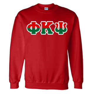 Phi Kappa Psi Two Tone Greek Lettered Crewneck Sweatshirt