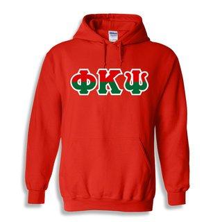 Phi Kappa Psi Two Tone Greek Lettered Hooded Sweatshirt