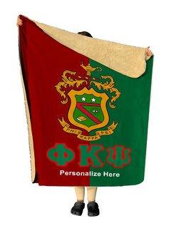 Phi Kappa Psi Two Tone Sherpa Lap Blanket
