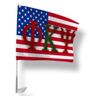 Phi Kappa Psi USA Car Flag
