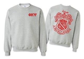Phi Kappa Psi World Famous Crest - Shield Crewneck Sweatshirt- $25!