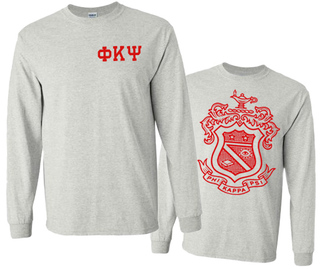 Phi Kappa Psi World Famous Crest Long Sleeve T-Shirt- MADE FAST!