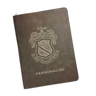 Phi Kappa Psi Zipper Leatherette Portfolio with Notepad
