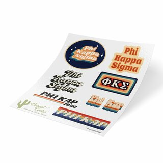 Phi Kappa Sigma 70's Sticker Sheet