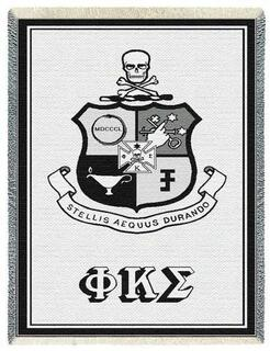 Phi Kappa Sigma Afghan Blanket Throw