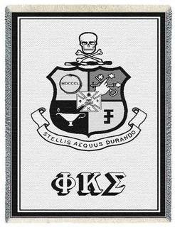 Phi Kappa Sigma Afghan Blanket Throw