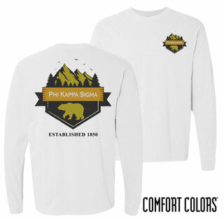 Phi Kappa Sigma Big Bear Long Sleeve T-shirt - Comfort Colors