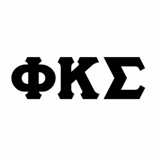 Phi Kappa Sigma Big Greek Letter Window Sticker Decal