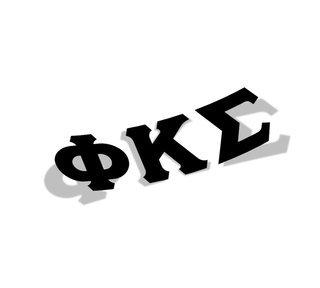 Phi Kappa Sigma Big Greek Letter Window Sticker Decal