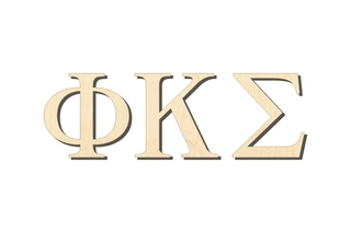 Phi Kappa Sigma Big Wooden Greek Letters