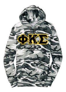 DISCOUNT-Phi Kappa Sigma Camo Pullover Hooded Sweatshirt