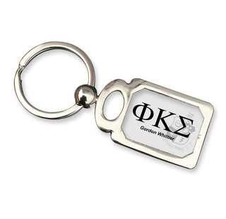 Phi Kappa Sigma Chrome Crest Key Chain