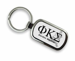 Phi Kappa Sigma Chrome Crest - Shield Key Chain