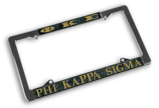 Phi Kappa Sigma Chrome License Plate Frames