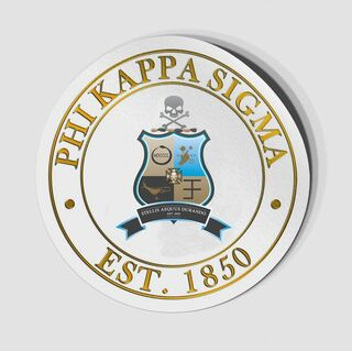 Phi Kappa Sigma Circle Crest - Shield Decal