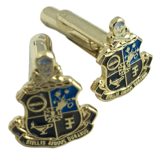 Phi Kappa Sigma Color Crest - Shield Cuff links-ON SALE!
