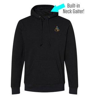 Phi Kappa Sigma Crest Gaiter Fleece Hooded Sweatshirt