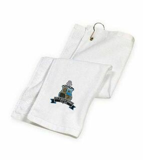 DISCOUNT-Phi Kappa Sigma Crest - Shield Golf Towel