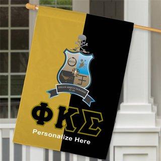 Phi Kappa Sigma Crest House Flag