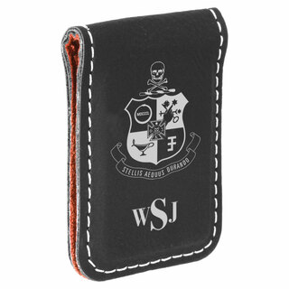 Phi Kappa Sigma Crest Leatherette Money Clip