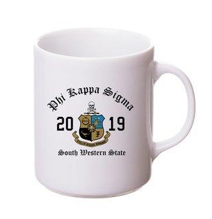 Phi Kappa Sigma Crest & Year Ceramic Mug