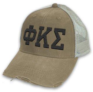 Phi Kappa Sigma Distressed Trucker Hat