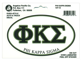 Phi Kappa Sigma Euro Decal Oval Sticker