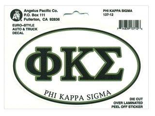 Phi Kappa Sigma Euro Decal Oval Sticker