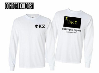 Phi Kappa Sigma Flag Long Sleeve T-shirt - Comfort Colors